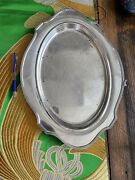 Antique Sterling Silver Platter Daniel Low And Co .16 1/2andrdquo X 12andrdquo Salem Silversmith