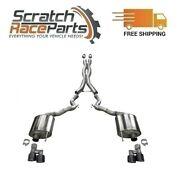 Corsa Cat-back Exhaust System With Quad Rear Exit For 18-20 Mustang 304 Ss 21047
