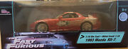 The Fast And Furious Racing Champions Ertl 118 1993 Domand039s Red Mazda Rx-7 Nib