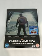 Captain America The Winter Soldier Blu Ray Steelbook 3d + 2d Edition New
