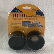 Digital Concepts Camera Video .5 Wide Angle And 2x Telephoto Lens Set Kit-1458d