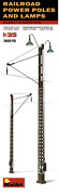 Miniart 1/35 Scale Railroad Power Poles And Lamps - Kit35570