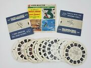 29 Vtg Disney Viewmaster Reels Mickey Mouse Clock Cleaners Snow White Bugs Bunny