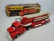 Vintage Andy Gard Remote Control Toys Battery Motor Fire Engine Ladder Truck