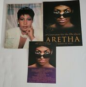 Aretha Franklin Obituary Funeral Flyer And Entertainment Connection Magazine Lot