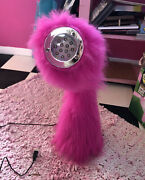 Retro Hot Pink Furry Desk Lamp Light Cool Only Used Once Usb Plug In