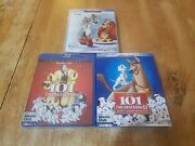 Disneys Lady And The Tramp, 101 Dalmations 1 And 2 Blu-rays + Dvd New Sealed