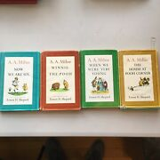 Winnie The Pooh Collection 1961 A.a. Milne Books - Four Books