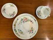 Royal Doulton China - Arcadia Pattern - Two 5 Piece Place Settings 10 Pieces