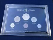 Norway 1974 Coin Set From Royal Mint - Total Of 6 Coins - Hard Plastic Version