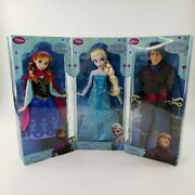 Disney Store Frozen Complete Doll Set First Edition Classic Collection 2013 New