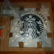 Starbucks Metal Retail Sign We Proudly Serve Siren Double Sided 12 X 12