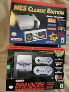 Snes And Nes Classic Edition Bundle