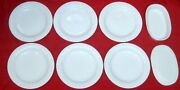 Set 6 Corning Ware French White Porcelain Salad Plates And 1 Individual Casserole