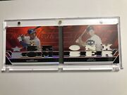 2008 Alex Rodriguez Mickey Mantle Topps Triple Threads Double Jersey Combo 33/36