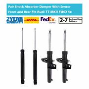 4x Front Rear Left Right Shock Absorber Magnetic For Audi Tt Tts 8j Mkii Fwd Awd