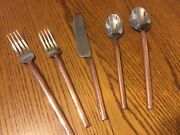 4pottery Barn Copper Handled Flatware 20 Piece Set-nib-sold Out