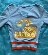 """Replay Sweatshirt Light Bluewhich Taint In The Front """"replay Over The Rainbow"""""""