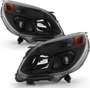 For 2016 2017 Chevy Equinox Black Housing Headlights Headlamps Replacement Rh Lh