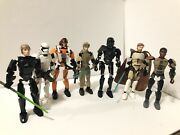 Lego Star Wars Buildable Figures Loose Lot Of 7 - Incomplete