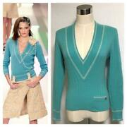 The Real Thing Runway Models Coco Decoration V-neck Cashmere Sweat _65385