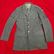 Vintage Wwii Ww2 Us Army Air Force Corp Mens Wool Uniformcoatjacket 40r