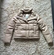 New Nwt Abercrombie And Fitch Vegan Leather Mini Puffer Jacket Large Sold Out
