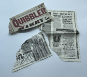 Harry Potter And The Deathly Hallows Blown Up Quibbler Screen Used Prop W/ Coa