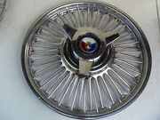 1 60s Ford Galaxie Fairlane 15 Across Center Hubcaps Wire Wheel Covers Spinners