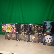 Neca Lot Of 8 Tmnt Toys All Brand New In Box
