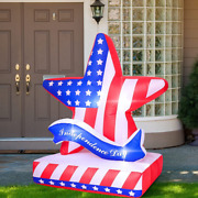 Elcoho Patriotic Independence Day Inflatables Decorations Inflatable American Fl