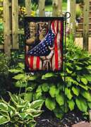Old Military Combat Boots With Usa Flag Decorative Gift Garden House Flag