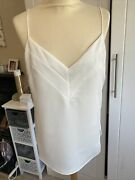 Stunning Reiss White Strappy Camisole Top Size 10