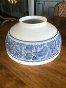 Antique Hanging Library Lamp Shade Blue Oil Light Shade