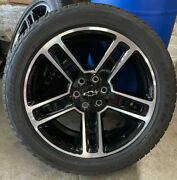 4 Ck160 Chevy Silverado Avalanche Black And Machined 22 Factory Wheels Rims Tires