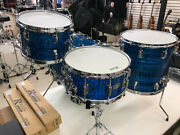 Vintage Rogers Holiday Usa Blue Onyx 4pc Drum Shell Pack New Dyna Sonic Snare