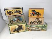 Lot Of 6 Avon Vintage Cars Cologne Bottles With Boxes All But 1 Are Full Packard