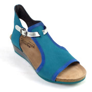 Naot Leather Wedge Sandals Fiona Teal/blue