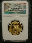 2015 South Africa R50 1/2 Oz 9999 Gold Black Backed Jackal Natura Coin Ngc Pf70
