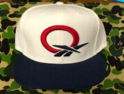 Reebok Question Snapback Hat Navy White Red Iverson Answer 76ers Ai Rare
