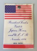 President Ford Visit To Japan, Korea And U.s.s.r. Id Badge For Nell Yates 1974
