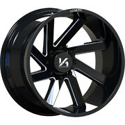 4 - 22x14 Black Milled Arkon Off-road Lincoln 5x5.5 -81 Directional Wheels