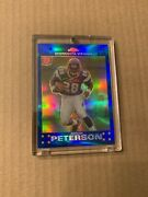 2007 Topps Chrome Adrian Peterson Blue Refractor Rookie Card Tc181 Near Mint Rc