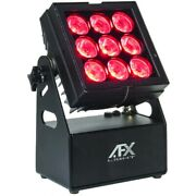 Afx Light Mobicolor9 Battery-operated 9x 15w Rgbl Led Outdoor Projector With W-d
