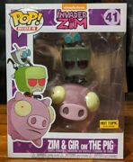 Invader Zim, Zim And Gir On The Pig. Hot Topic Exclusive. Vinyl Pop Figure.