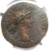 Ancient Roman Claudius Ae Sestertius Coin 41-54 Ad - Certified Ngc Choice Vf