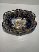 Antique 1891 Hand Painted Nippon Serving Dish Maple Leaf Bowl Stunning