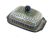Blue Rose Polish Pottery Tranquility Butter Dish