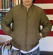 Vintage 40s Wwii Us Army Military Tanker Combat Winter Lined Field Jacket.