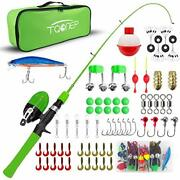 Tqonep Kids Fishing Polewith Spincast Fishing Reel Tackle Box For Boys Girls